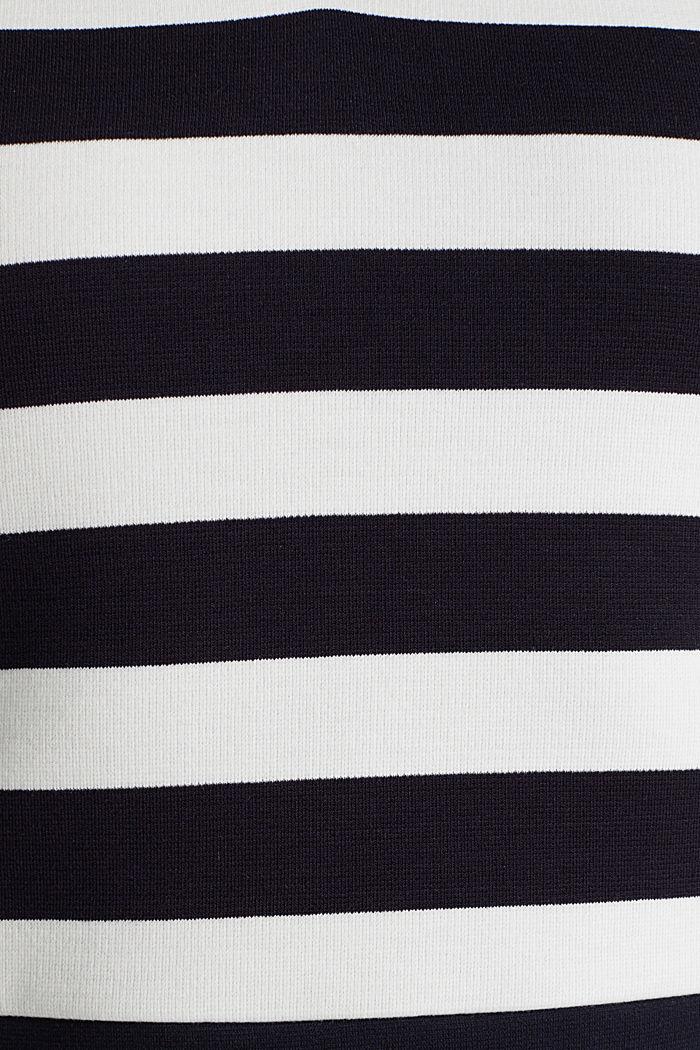 Kokerjurk van stevige, elastische jersey, NAVY, detail image number 4