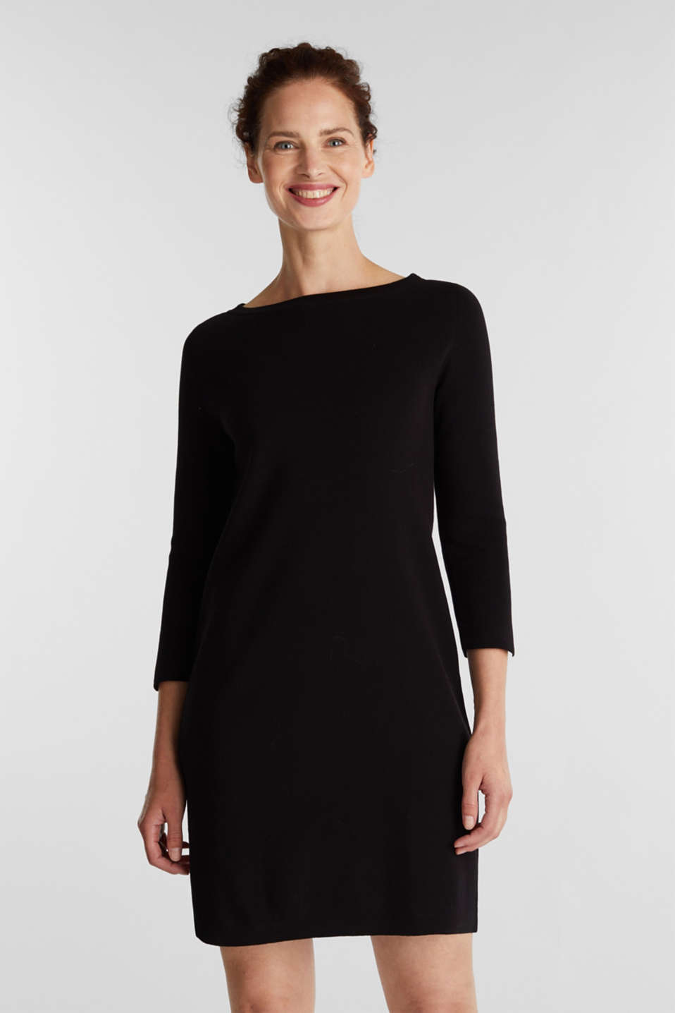 Esprit - Knit dress made of 100% cotton