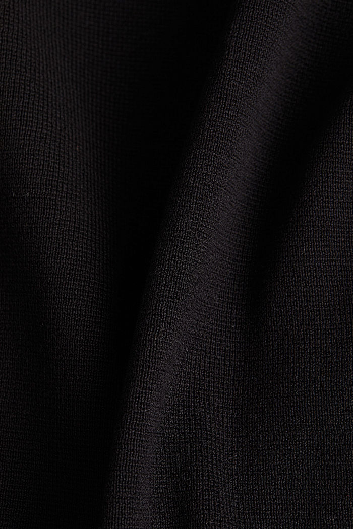 Knit dress made of 100% cotton, BLACK, detail image number 4