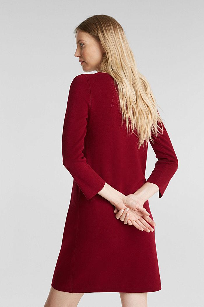 Strickkleid aus 100% Baumwolle, BORDEAUX RED, detail image number 2