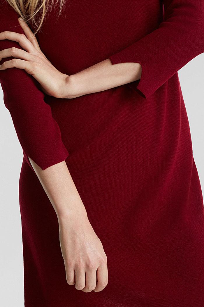 Strickkleid aus 100% Baumwolle, BORDEAUX RED, detail image number 3