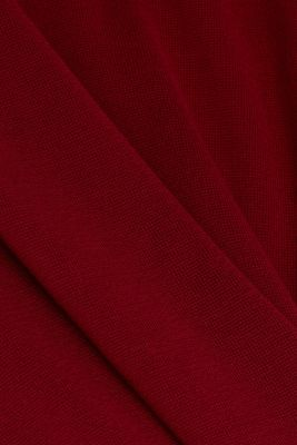Knit dress made of 100% cotton, BORDEAUX RED, detail