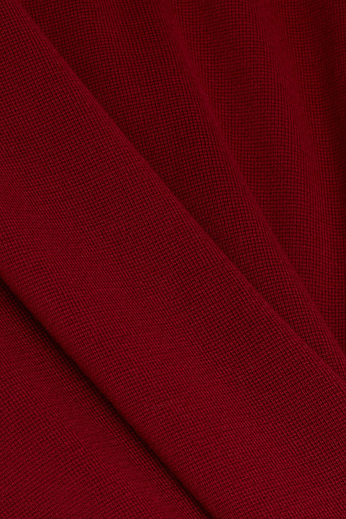 Strickkleid aus 100% Baumwolle, BORDEAUX RED, detail image number 4