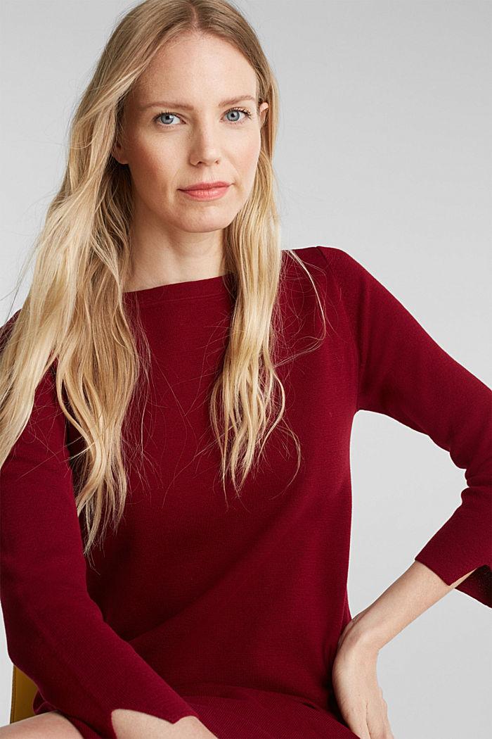 Strickkleid aus 100% Baumwolle, BORDEAUX RED, detail image number 5