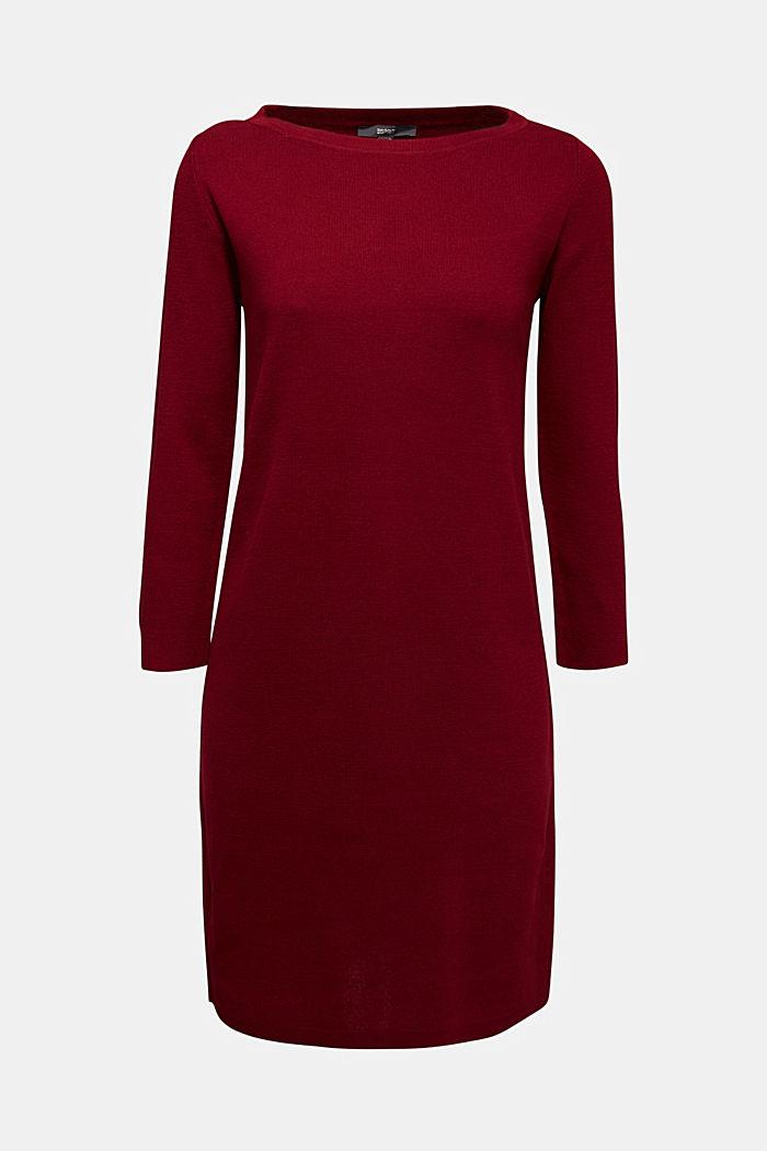 Strickkleid aus 100% Baumwolle, BORDEAUX RED, detail image number 6
