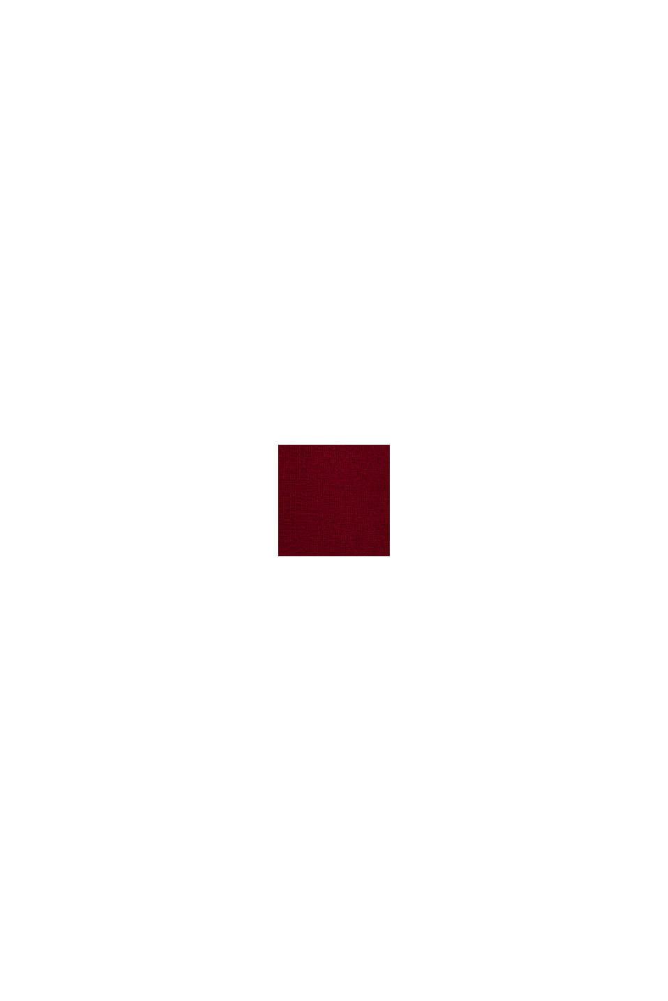 Strickkleid aus 100% Baumwolle, BORDEAUX RED, swatch