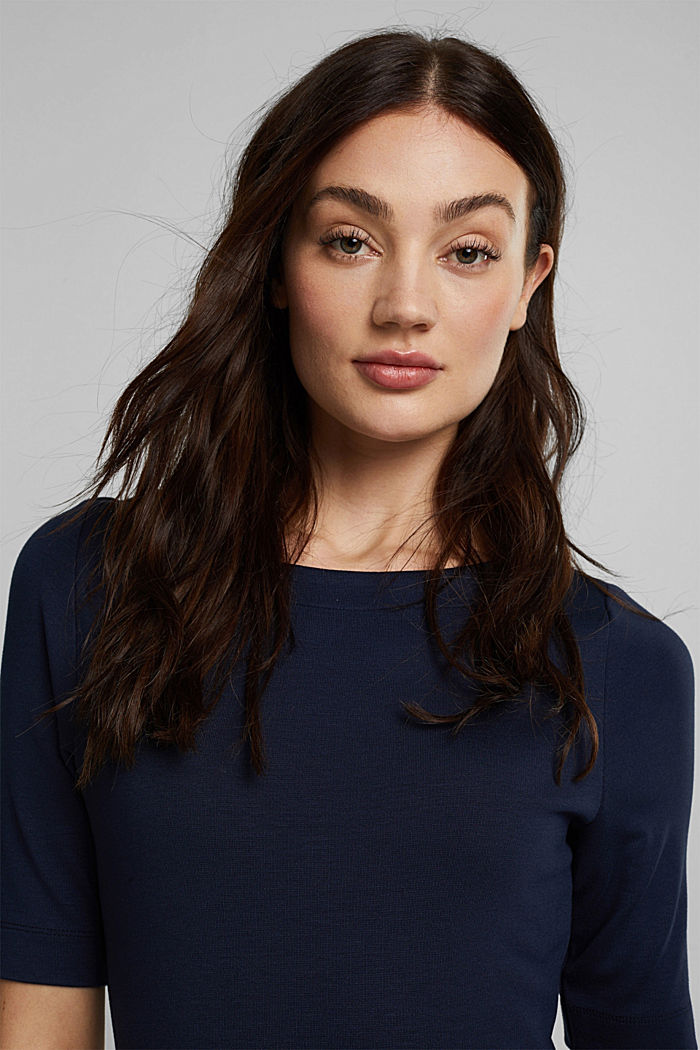 Jersey-Kleid mit LENZING™ ECOVERO™, NAVY, detail image number 5