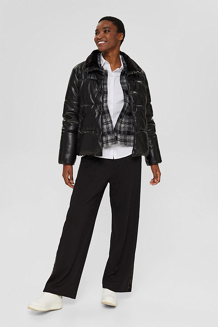 Fitted stretch shirt blouse, WHITE, detail image number 1