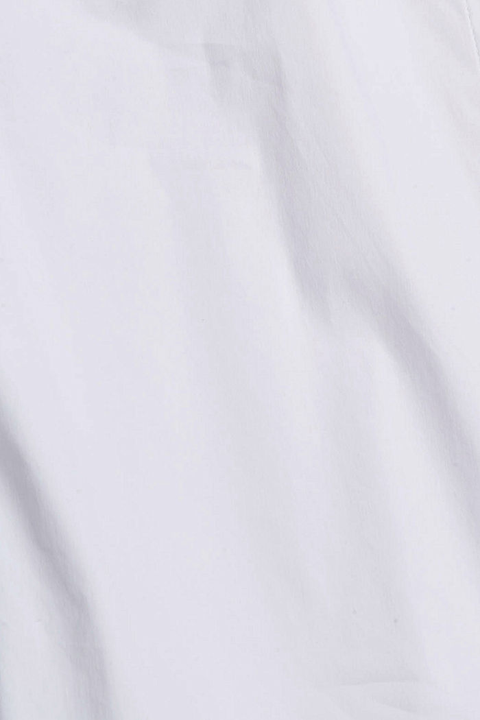 Fitted stretch shirt blouse, WHITE, detail image number 4
