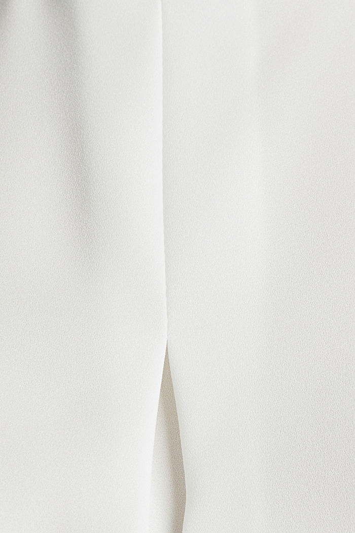 Blouse made of recycled fabric with a front pleat, OFF WHITE, detail image number 4