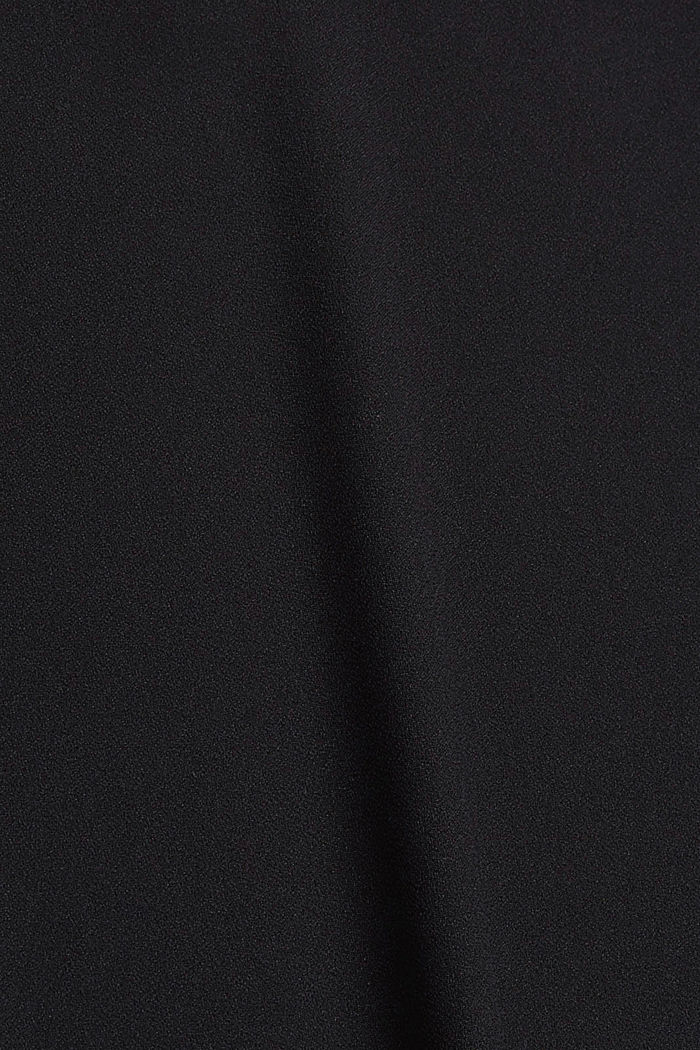 Stretch blouse with open edges, BLACK, detail image number 4