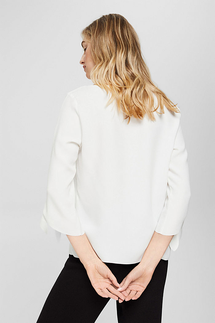 Stretch blouse with open edges, OFF WHITE, detail image number 3