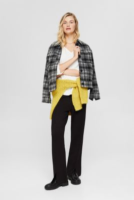 Stretch blouse with open edges, OFF WHITE, detail
