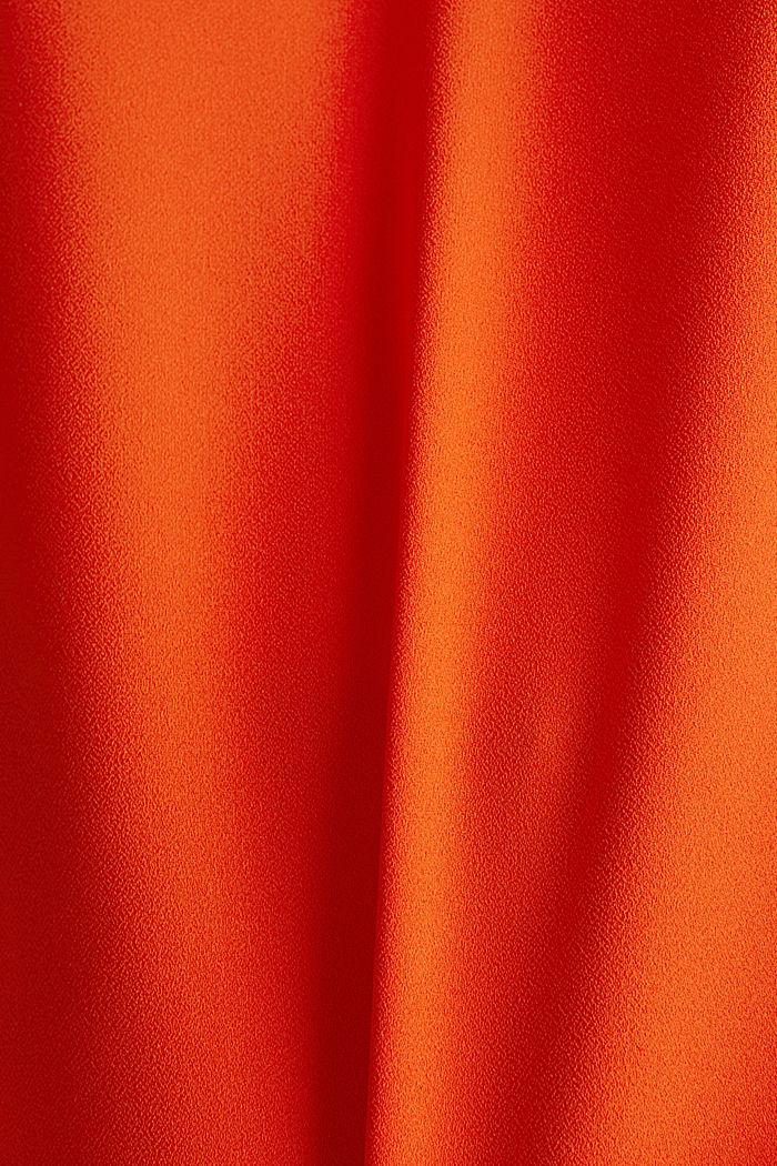 Stretch-Bluse mit offenen Kanten, RED ORANGE, detail image number 2