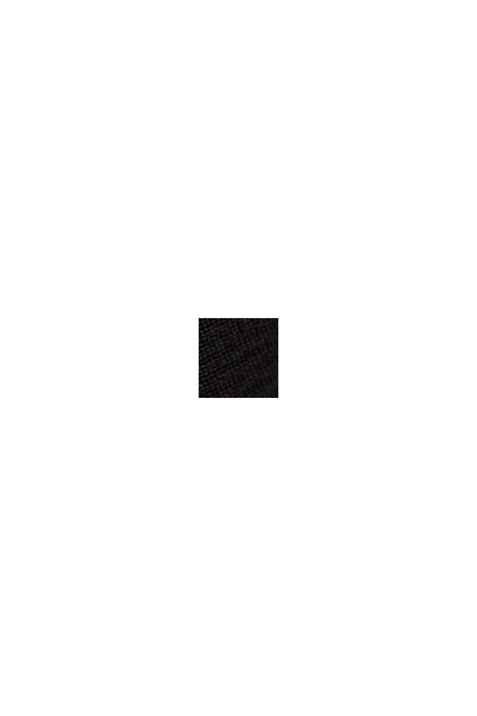 Overhemdblouse van LENZING™ ECOVERO™, BLACK, swatch