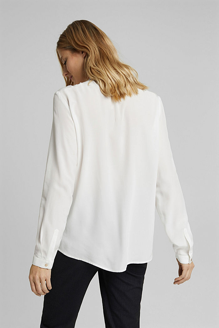 Blusa camisera en LENZING™ ECOVERO™, OFF WHITE, detail image number 3