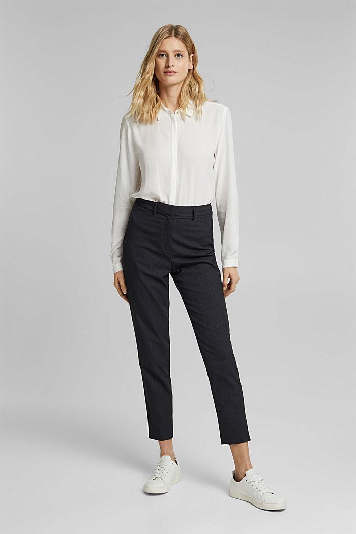 LENZING™ ECOVERO™ shirt blouse, OFF WHITE, detail image number 5