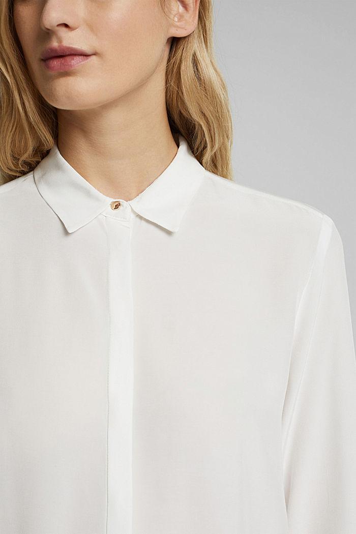 LENZING™ ECOVERO™ shirt blouse, OFF WHITE, detail image number 2