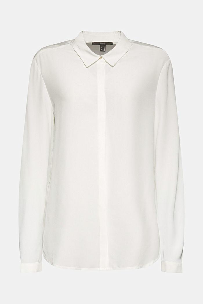 LENZING™ ECOVERO™ shirt blouse, OFF WHITE, detail image number 6