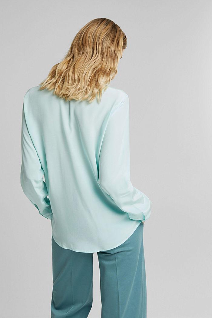LENZING™ ECOVERO™ shirt blouse, LIGHT TURQUOISE, detail image number 3