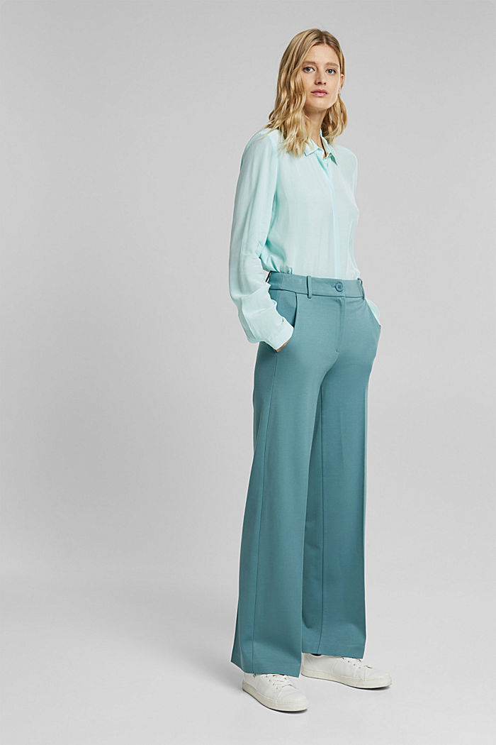 LENZING™ ECOVERO™ shirt blouse, LIGHT TURQUOISE, detail image number 5