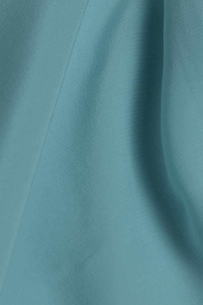 LENZING™ ECOVERO™ shirt blouse, LIGHT TURQUOISE, detail image number 4