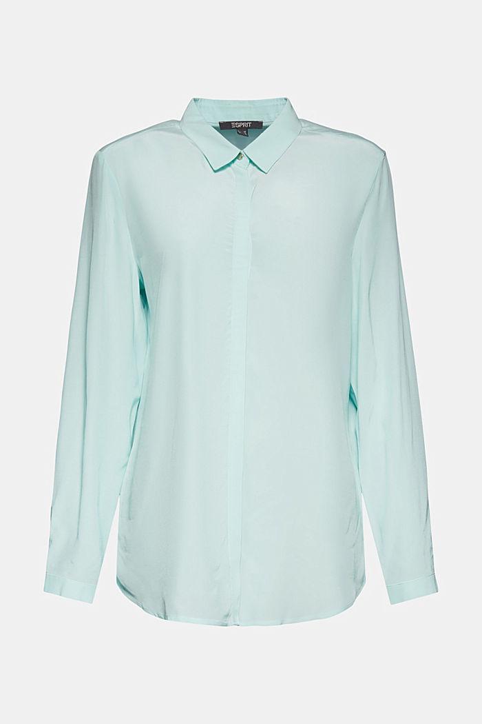 LENZING™ ECOVERO™ shirt blouse, LIGHT TURQUOISE, detail image number 6