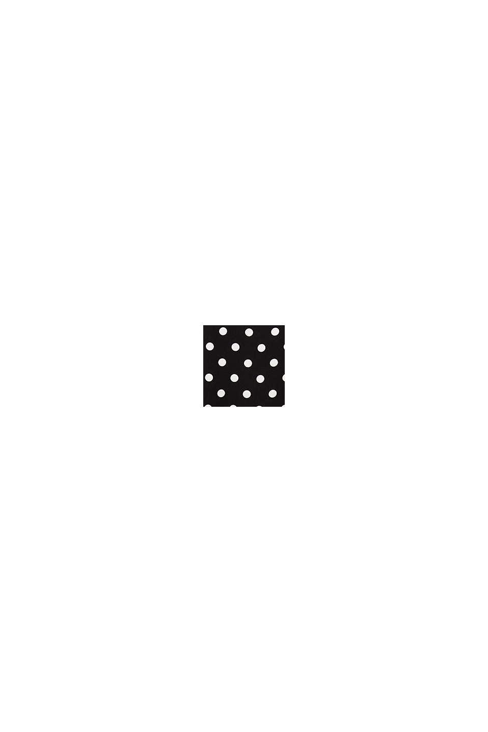Blusen-Top mit Polka Dots, BLACK, swatch