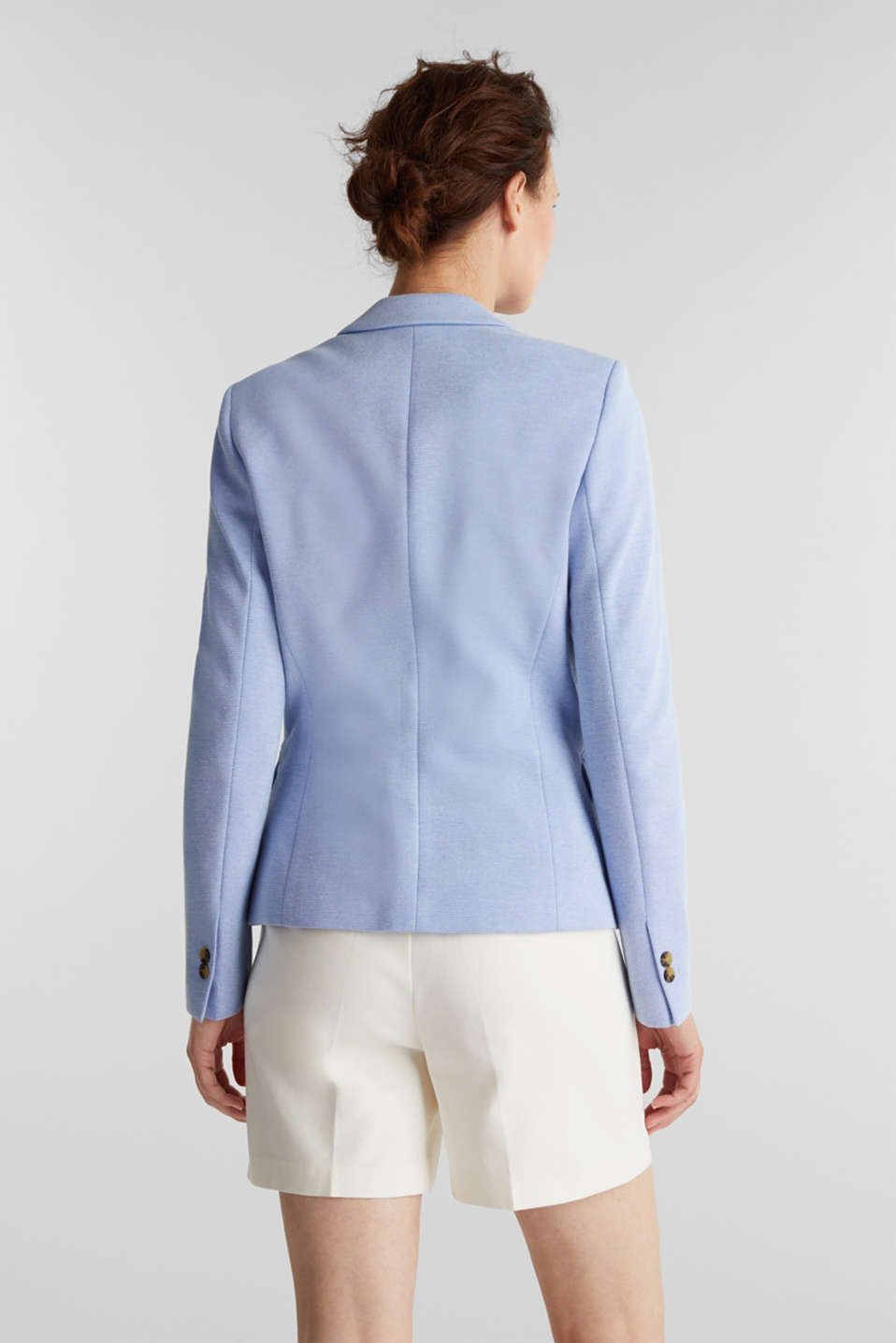 Fitted textured blazer, recycled, LIGHT BLUE, detail image number 3