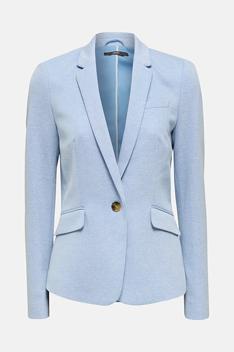 Fitted textured blazer, recycled