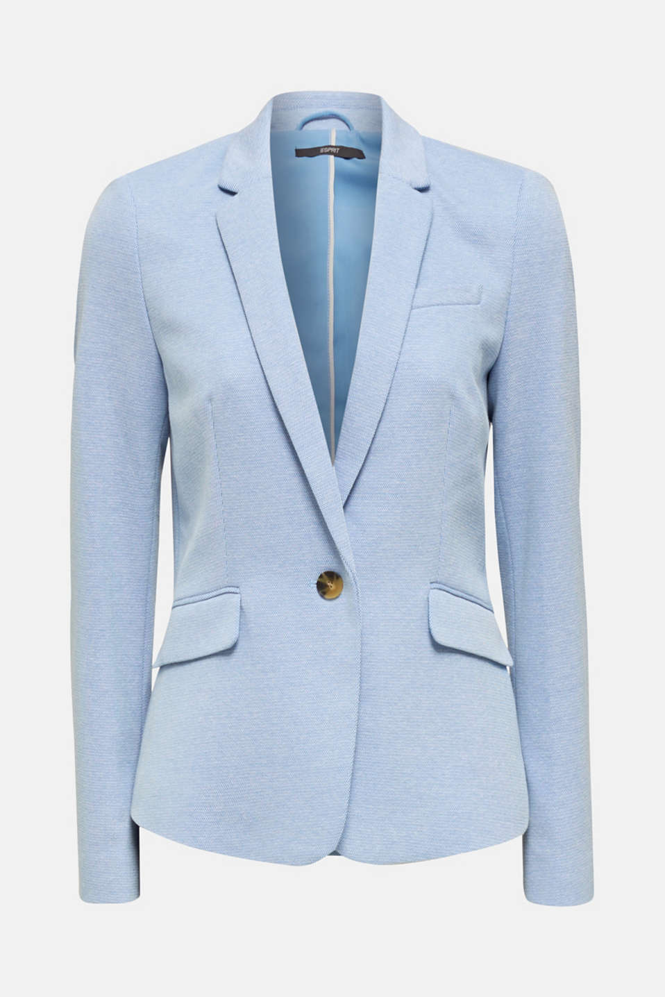 Fitted textured blazer, recycled, LIGHT BLUE, detail image number 7