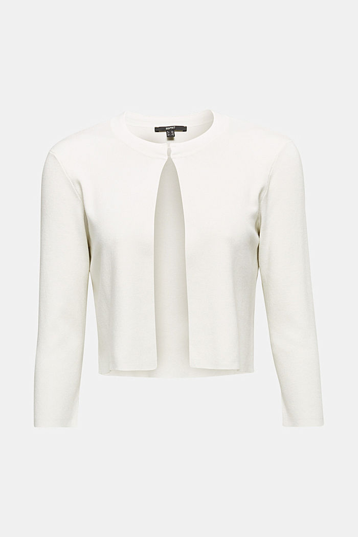 Bolero with LENZING™ ECOVERO, OFF WHITE, overview