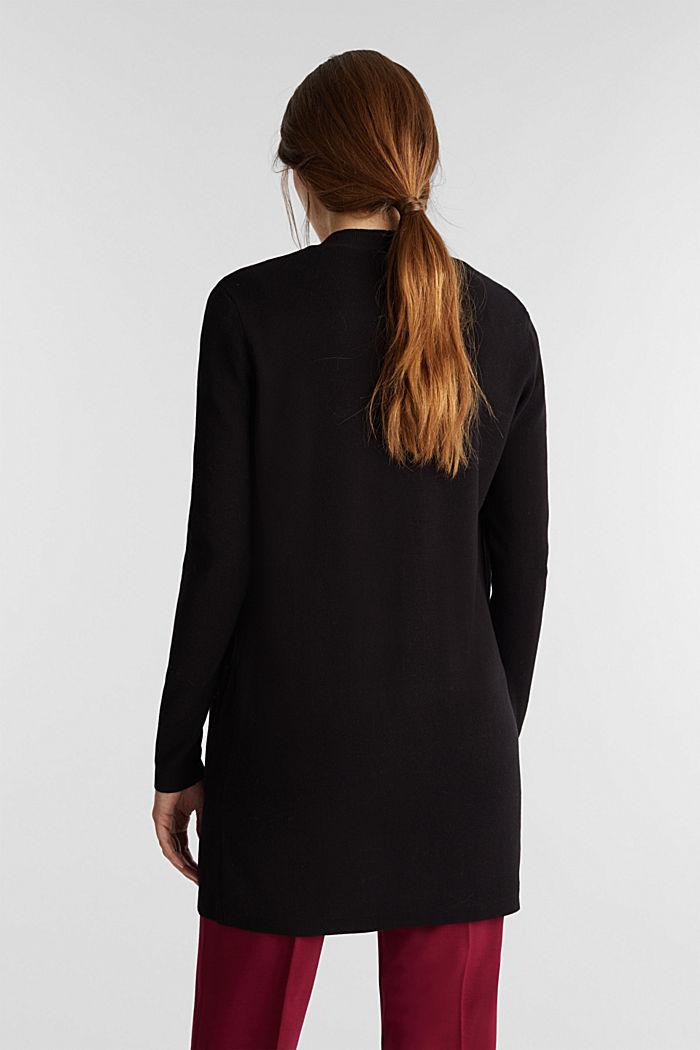 Knit cardigan in 100% cotton, BLACK, detail image number 3