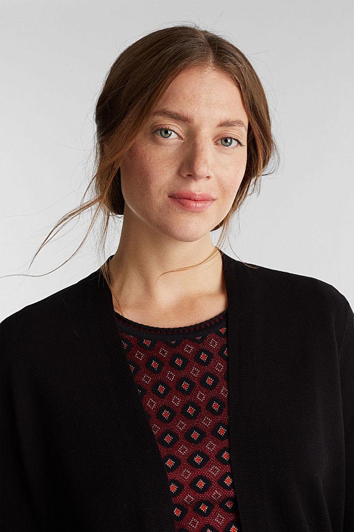 Knit cardigan in 100% cotton, BLACK, detail image number 5