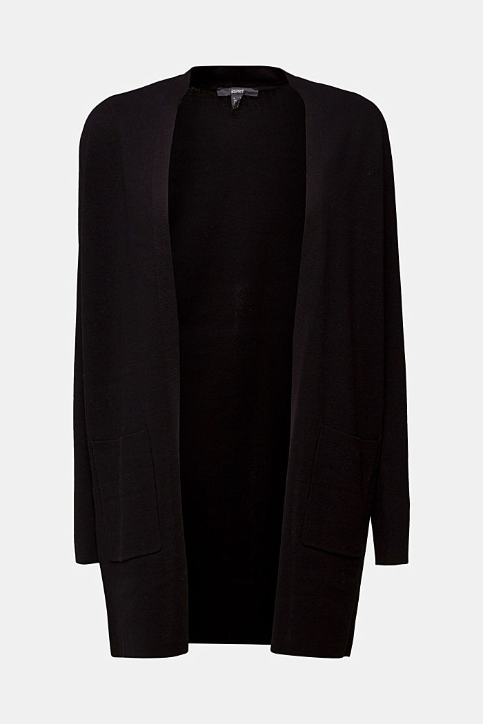 Knit cardigan in 100% cotton, BLACK, detail image number 6