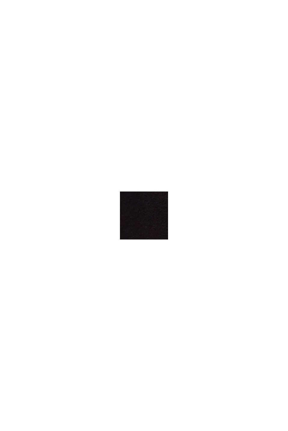 Dzianinowy kardigan, 100% bawełny, BLACK, swatch