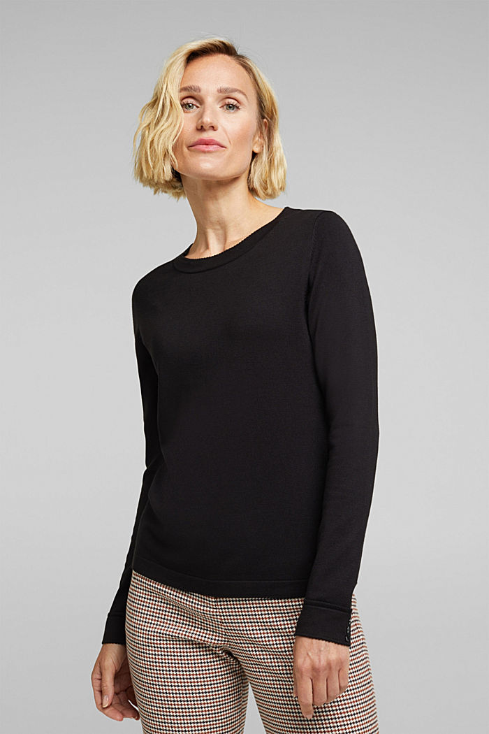 Jumper containing LENZING™ ECOVERO™, BLACK, detail image number 0