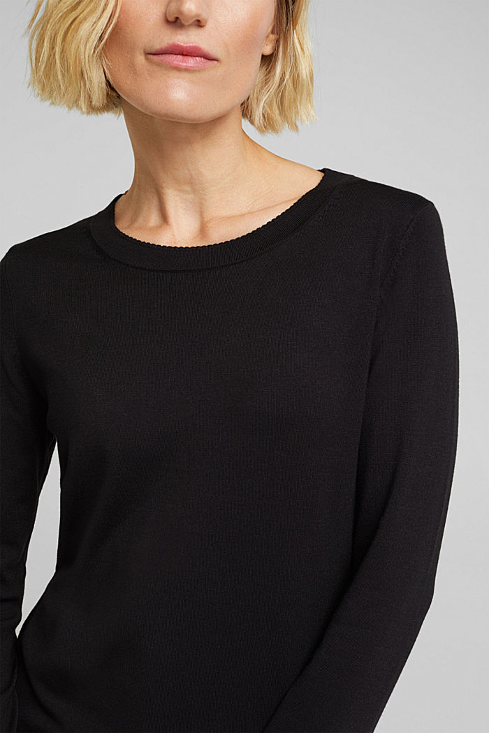 Jumper containing LENZING™ ECOVERO™, BLACK, detail image number 2