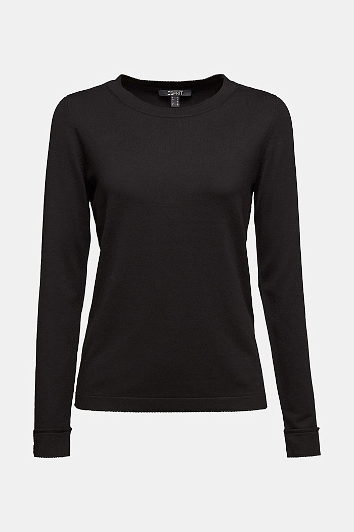 Jumper containing LENZING™ ECOVERO™, BLACK, detail image number 5