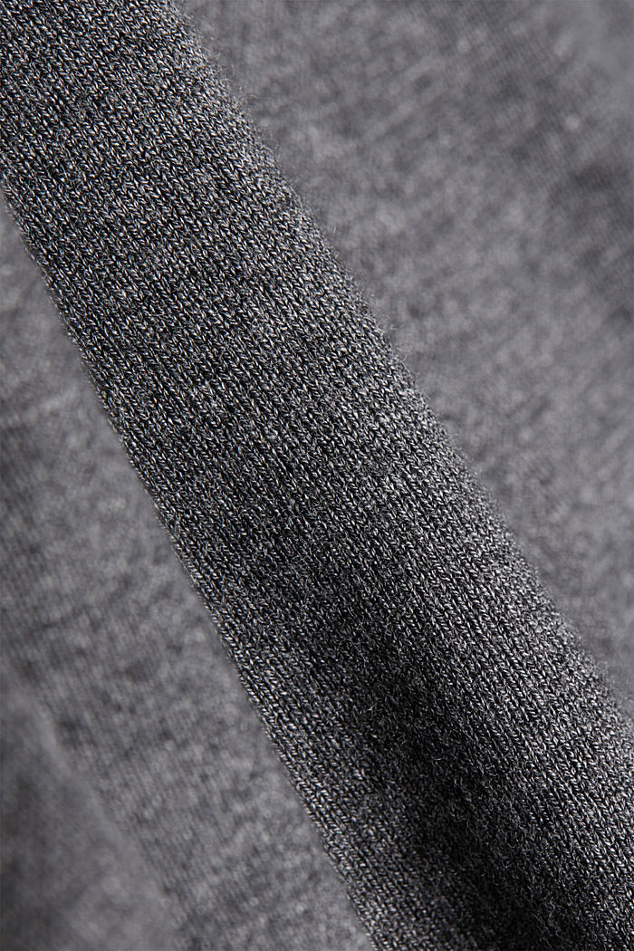 Jumper containing LENZING™ ECOVERO™, GUNMETAL, detail image number 4