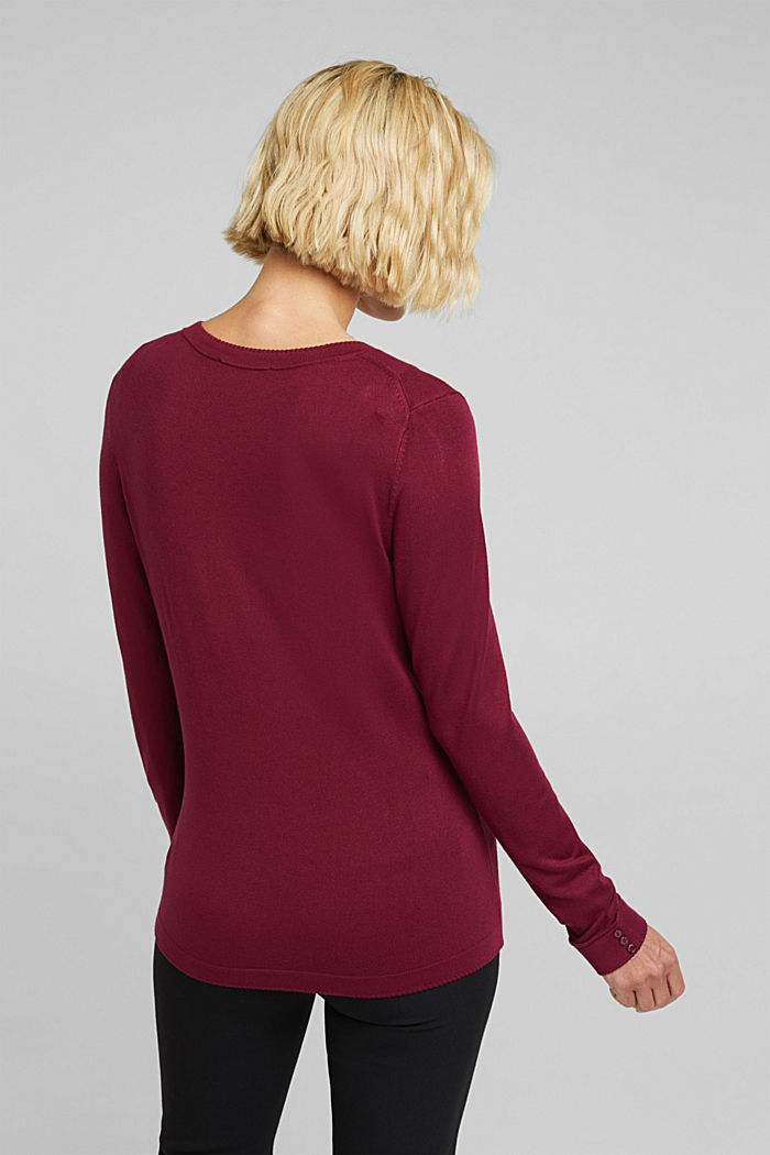 Jumper containing LENZING™ ECOVERO™, BORDEAUX RED, detail image number 3