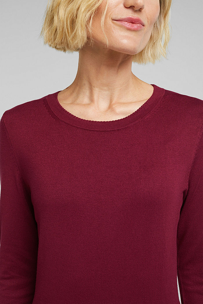 Jumper containing LENZING™ ECOVERO™, BORDEAUX RED, detail image number 2