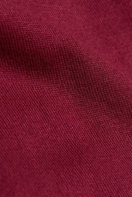 Jumper containing LENZING™ ECOVERO™, BORDEAUX RED, detail