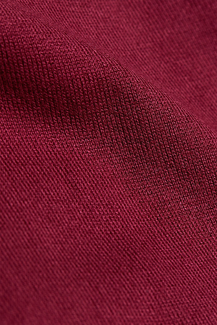 Jumper containing LENZING™ ECOVERO™, BORDEAUX RED, detail image number 4