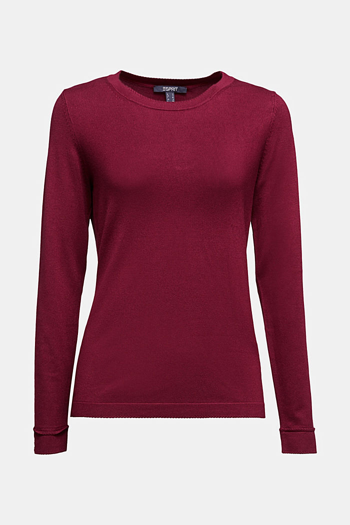 Jumper containing LENZING™ ECOVERO™, BORDEAUX RED, detail image number 6