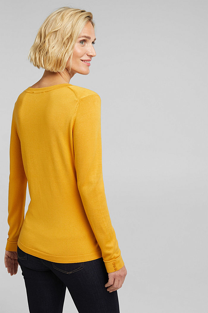 Jumper containing LENZING™ ECOVERO™, HONEY YELLOW, detail image number 3