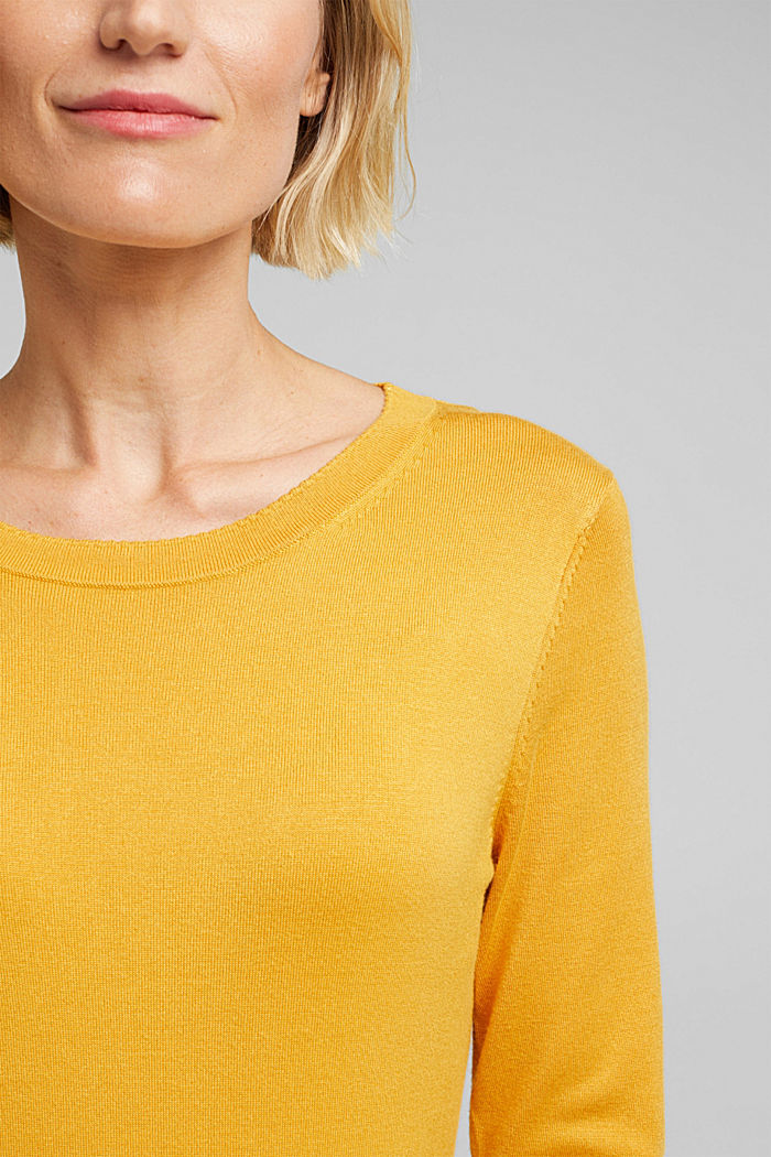 Jumper containing LENZING™ ECOVERO™, HONEY YELLOW, detail image number 2