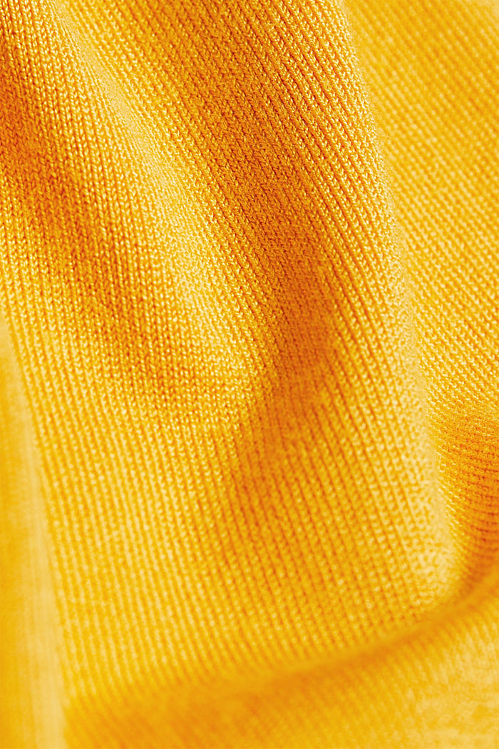 Jumper containing LENZING™ ECOVERO™, HONEY YELLOW, detail image number 4