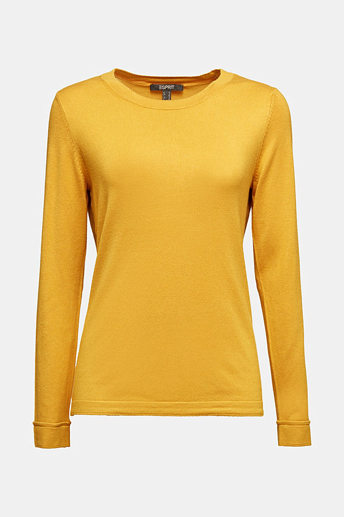 Jumper containing LENZING™ ECOVERO™, HONEY YELLOW, detail image number 5