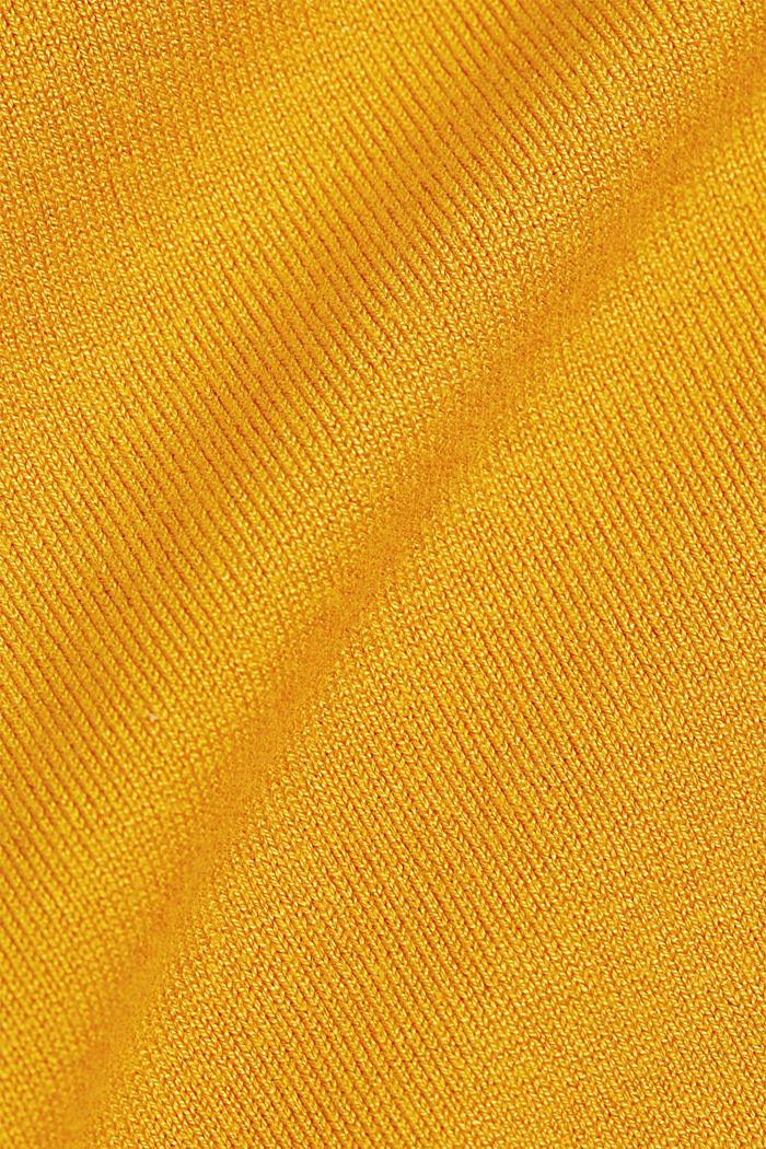 Kurzarm-Pullover, LENZING™ ECOVERO™, HONEY YELLOW, detail image number 4